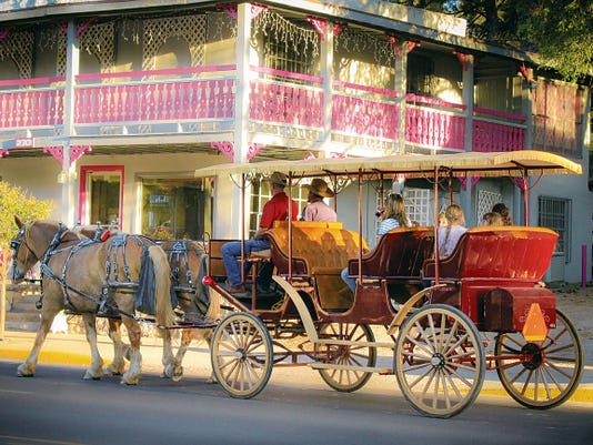 Grindstone Stables carriage rides run from 11 a.m. to 5 p.m., seven-days-a-week.