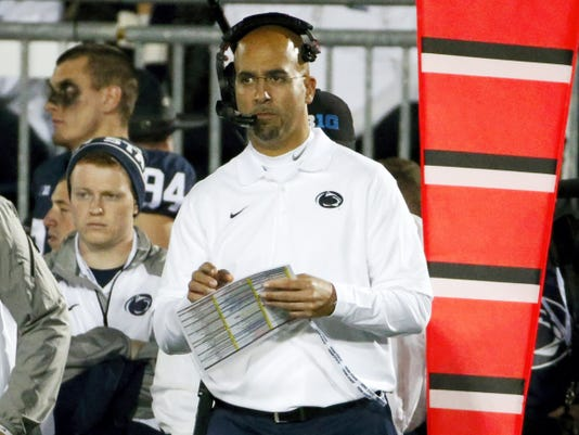 Penn State coach James Franklin says his program is in a much better place than it was a season ago.