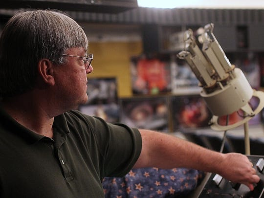 Todd Ullery operates the planetarium at the York Learning