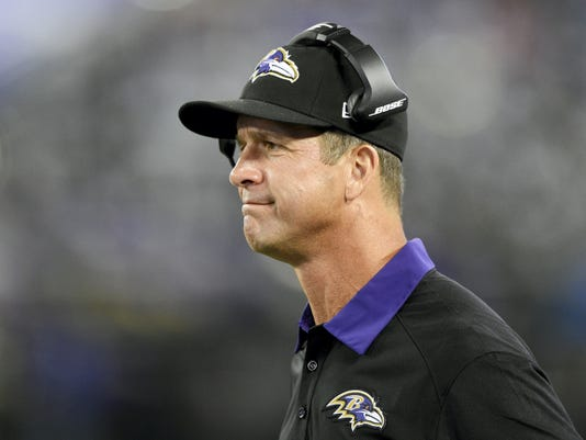 Baltimore Ravens head coach John Harbaugh has displayed some bizarre behavior lately.