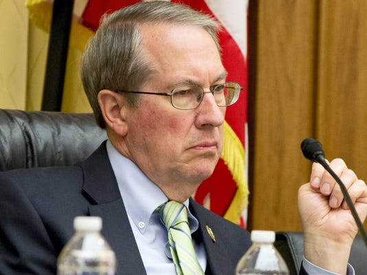 FILE - In this May 19, 2015 file photo, House Judiciary Committee Chairman Rep. Bob Goodlatte, R-Va. listens to testimony on Capitol Hill in Washington.   Congress begins long-awaited hearings today on Planned Parenthood, that are already weaving accusations, emotion and politics.  (AP Photo/Jacquelyn Martin)