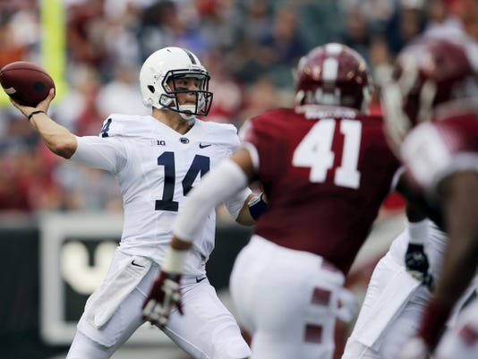 Quarterback Christian Hackenberg has endured an up-and-down career at Penn State.
