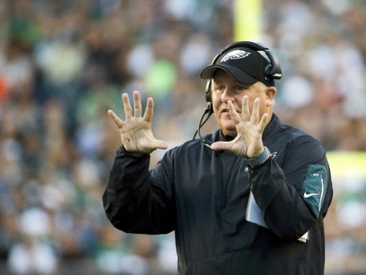 Philadelphia Eagles head coach Chip Kelly has a lot of problems to fix with his football team.