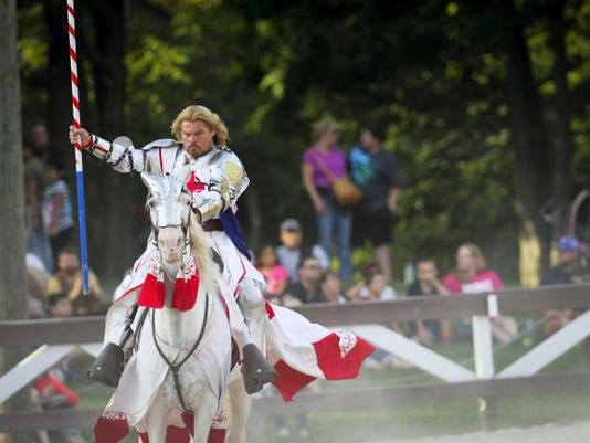 Children love seeing the jousting at the Pennsylvania Renaissance Faire.
