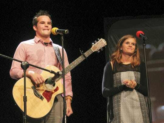 Kristopher Potter and Taylor Piper, who go by the stage name  A World Apart, won the first annual A Cappella & Unplugged contest in 2015.