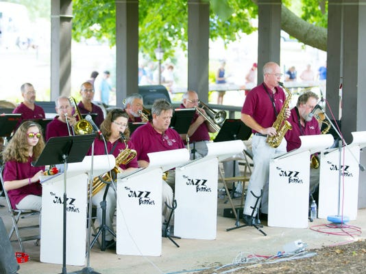 The Jazzberries perform at the 55th Annual Chicken BBQ, Car Show & Auction Saturday.