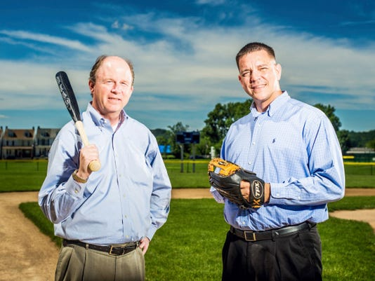 Mike Summers and Mike Smith photographed on the Rotary Fields at Allen Park in York on Wednesday, June 24, 2015. Jeff Lautenberger Ð For the Daily Record/Sunday News