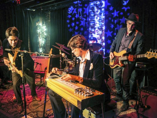Jeremy Fetzer and Spencer Cullum bring their unique instrumental rock to York's Sign of the Wagon gallery and studio this weekend.