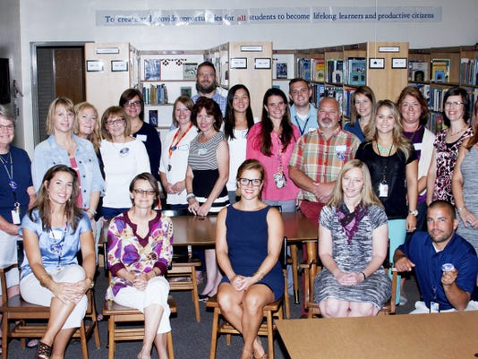 GASD Literacy Taskforce Members — Front row: Emily Brookens, Dana Divelbiss, Allyson Flynn, Melissa Shuey, Chad Stover. Row 2: Molly Moran, Christine Reiber, Cathy Nicastro, Maggie Labutta, Angela Singer, Meagan Brockway, Georgina Cranston, So Marvich, Sheila Keller, Bob Crider, Mallory Kauffman. Back row: James Thomas, Bill Doll, Lucy Schemel, Nicole Winslow, Jamie Reynolds, Andrea McCauley.