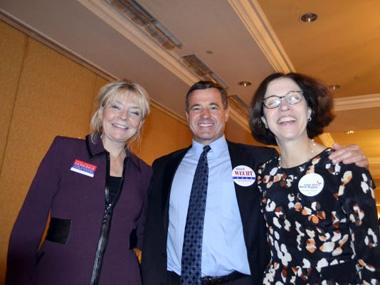 Pictured here are Christine Donohue and David Wecht, who are running for State Supreme Court, as well as Alice Dubow, democratic candidate for State Superior Court.