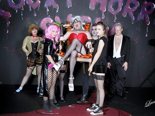 The cast of 'The Rocky Horror Show' poses for a photo.