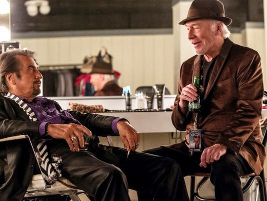 "Aging rocker ""Danny Collins"" (Al Pacino) gets some sensible advice from his manager (Christopher Plummer). Not that he'll listen of course."