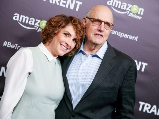 """Jill Soloway, left, and Jeffrey Tambor arrive at the """"Transparent"""" Q&A Screening at the Directors Guild of America Theater in June. Actor Tambor helped pave the way for transgender roles in the modern age."""