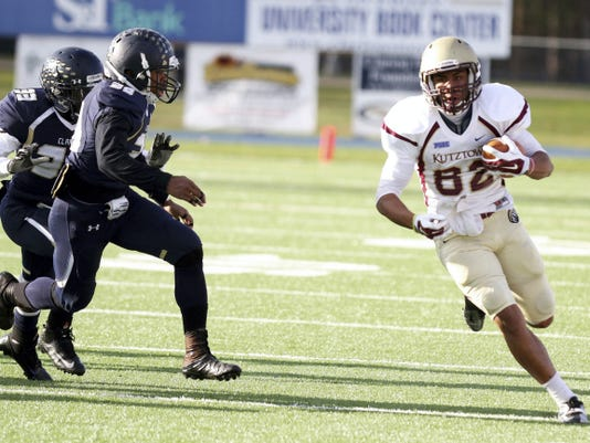 Kutztown receiver Kellen Williams, a 2013 Chambersburg graduate, has been a valuable performer on the field for the Golden Bears for his first two seasons, and now he will serve as a captain.