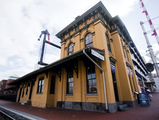 The Gettysburg Railroad Station at Carlisle Street in downtown Gettysburg. The historic building was sold by the Gettysburg Borough Council to the Gettysburg Foundation for 500,000.