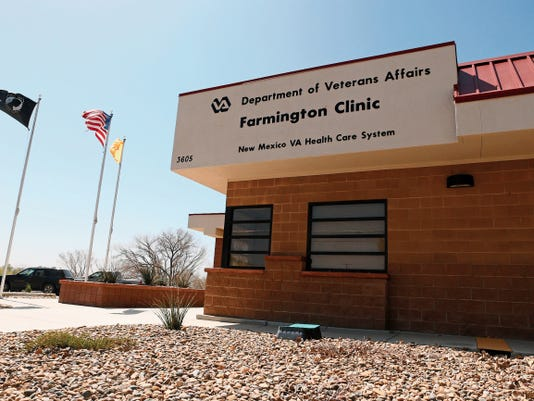 The Farmington Clinic for the Department of Veteran Affairs is pictured Wednesday. An Associated Press review found the clinic is the sixth-worst facility in the country in the amount of time veterans have to wait for an appointment.