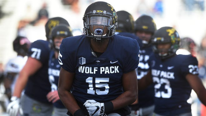 Nevada's Trevion Armstrong is competing for a starting receiver spot.