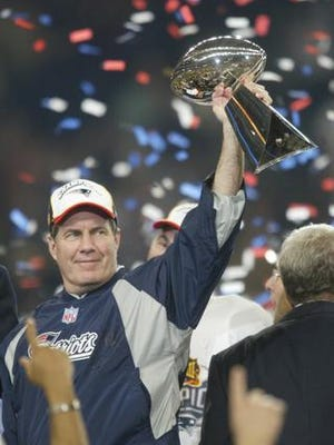 New England Patriots head coach Bill Belichick after one of his Super Bowl wins.