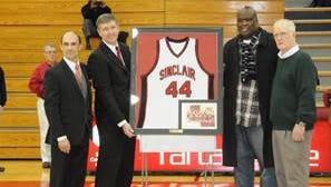Buster Douglas was recognized in 2012 for playing at Sinclair Community College in Dayton during the 1979-80 season.