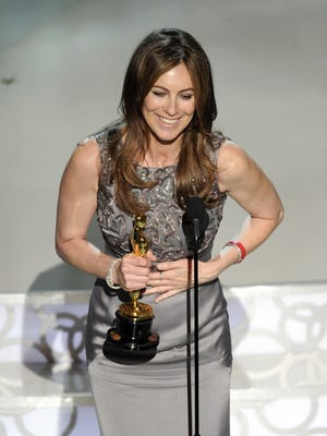 Kathryn Bigelow accepts the Oscar for best achievement in directing for ?The Hurt Locker? at the 82nd Academy Awards Sunday, March 7, 2010, in the Hollywood section of Los Angeles.