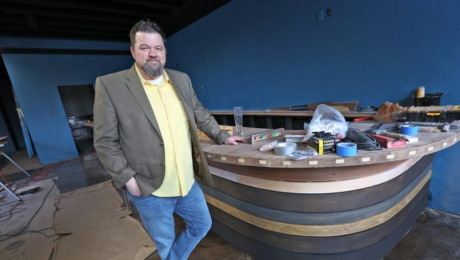 Jason Ammerman, the General Manager of Bonna Station, shows the progress of his new establishment will be the first full service bar in Irvington, selling liquor, beer, and wine,