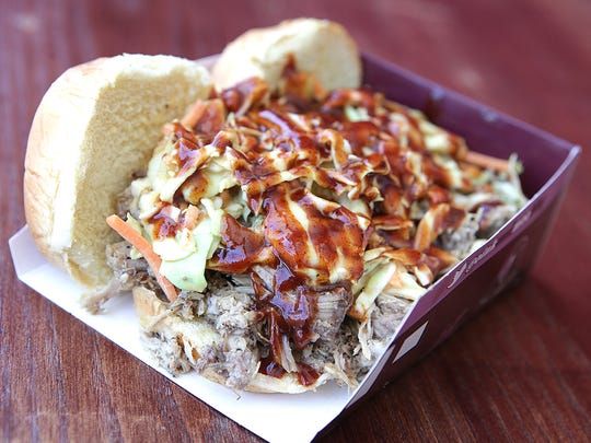 Oink and Moo BBQ's patented pulled pork sliders likely will be the tasty dish the popular food truck serves from Sept. 18 to 20 at Oak Ridge Park in Clark.
