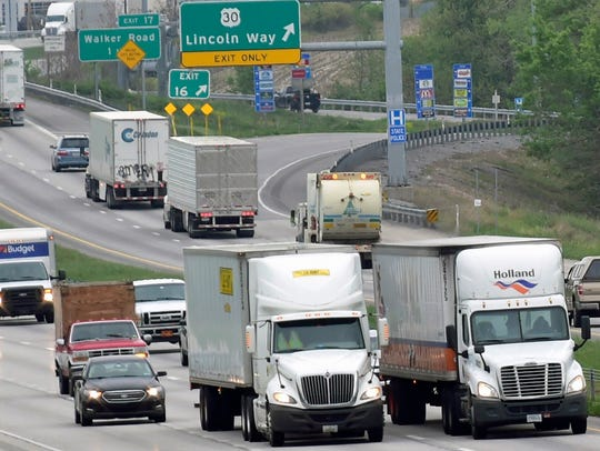 The device that measures air pollution in Franklin County is on South Mountain, far above Interstate 81 traffic and its immediate effects.