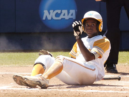 India Chiles scores the first run against Northwestern