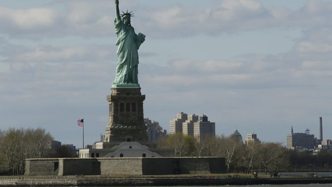 A file photo of the Statue of the Liberty.