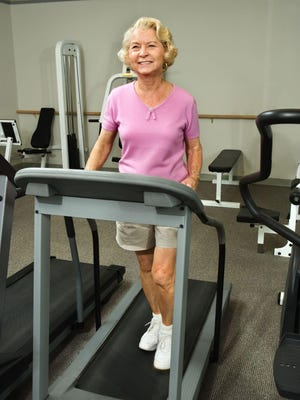 Many treadmills have programs that allow for a warm-up, walking challenge and cool down. This provides you with a challenge that you may not get outside.