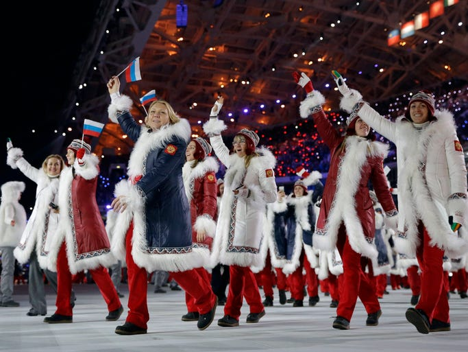 Worst: Russia. While thoroughly Russian, many couldn't resist comparing these uniforms to Santa suits.