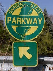 A sign for a Garden State Parkway entrance ramp.