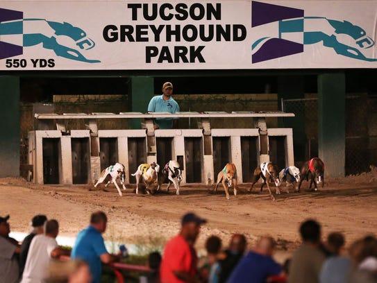 Tucson Greyhound Park's last race, in 2016.