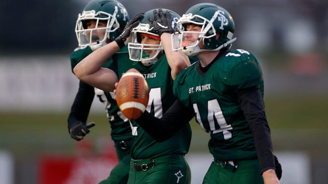 The Portland St. Patrick football team is headed back to the state finals.