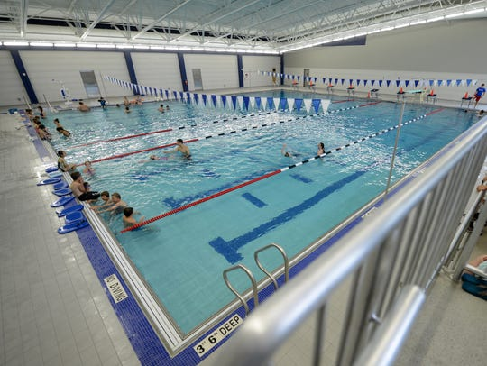 The first day of swim lessons at the newly renovated