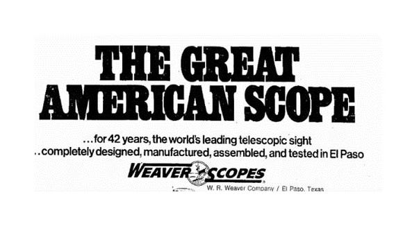 A 1976 ad for the W.R. Weaver Co.