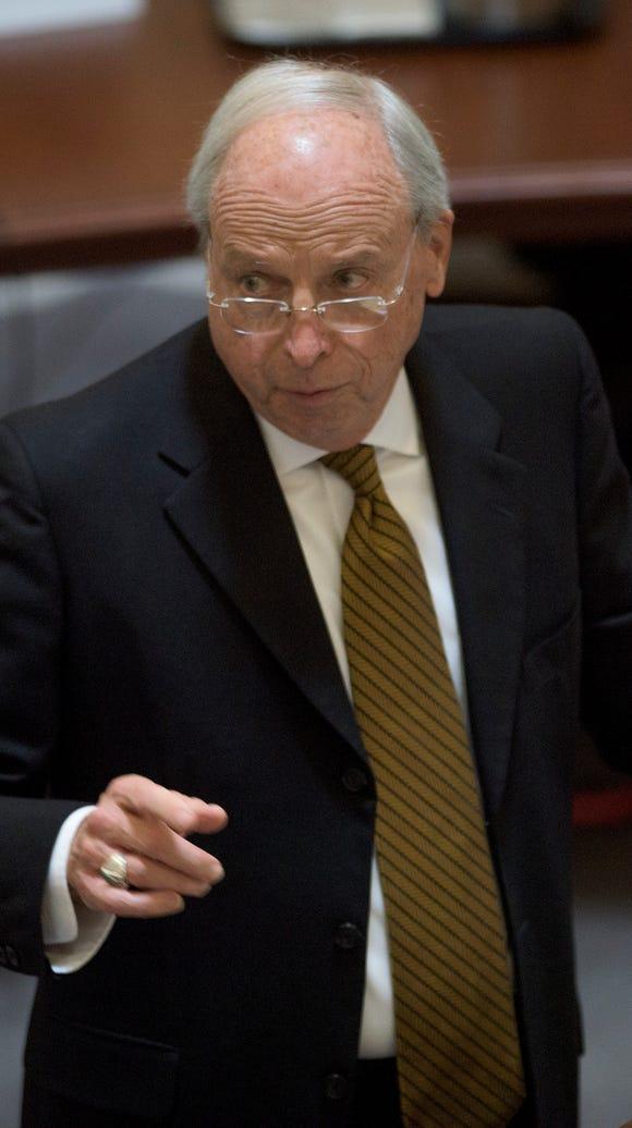 Attorney John Carroll cross examines Alabama Chief
