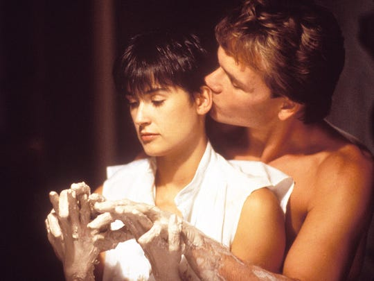 Demi Moore and Patrick Swayze make pottery in 'Ghost.'