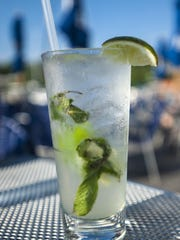 A mojito made with rum, lime and Vermont mint at Splash at the Boathouse on the waterfront in Burlington.