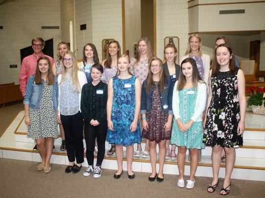 Pictured are the South Lyon high school students who were honored Monday morning.