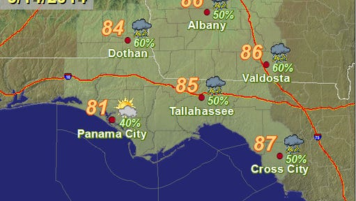 Weather for May 14, 2014