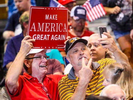 Donald Trump rally draws large crowd in Tampa despite rain ...