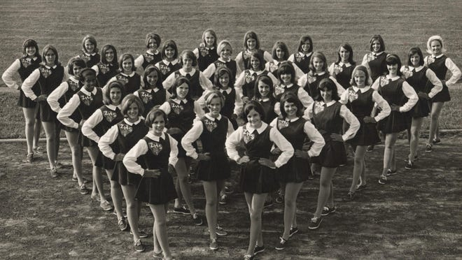 The 1968 Devilettes team poses for a group photograph.