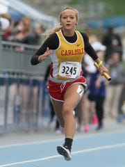 Carlisle's Taylor DuBois is headed to the state track meet after qualifying in both the 100- and 200-meter dashes. She also qualified as a member of some of the Wildcats' relay teams that qualified.