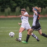 Gull Lake's Olivia Sullivan advances the ball during the state final game against Fenton.