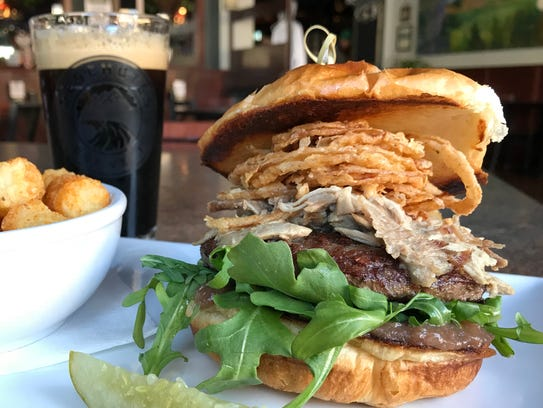 The duck confit burger at 8th Street Ale Haus, Sheboygan,