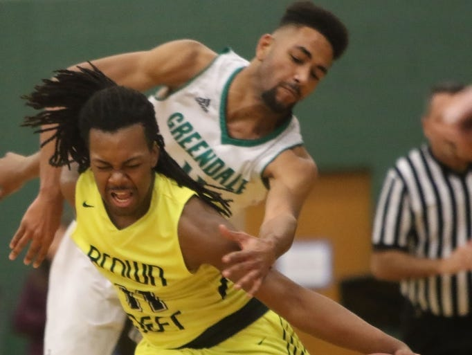 Greendale's Zach Harrison attempts to steal the ball