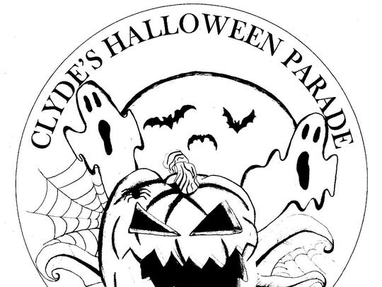 The winning Halloween button design was crated by Jessice Middleton, tenth grader at Clyde High School.