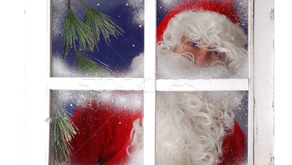 Santa likes to make sure children are sleeping before he delivers his toys.