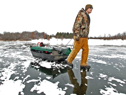 what are the hottest ice fishing holes in central iowa